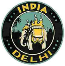 New Delhi  INDIA    Vintage-1960's  tyle   Travel Sticker/Decal