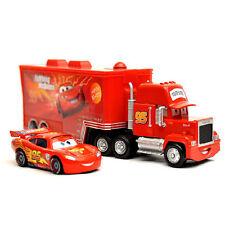CARS - MACK + RAY MC QUEEN / CAMION TRANSPORT + VOITURE PETIT 22cm