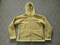 EUC Patagonia Women's Synchilla Fleece Hoodie Jacket Yellow Sz Large Made in USA