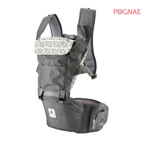 [POGNAE] All New NO5 hip seat baby carrier-gray