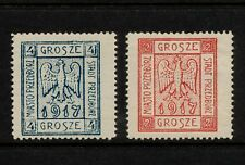 (YYAG 521) Poland 1917 OLD FORGERY Mich 1A 2A Przedbórz Przedborz Local FAKE