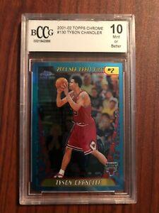 2001-02 2001 Topps Chrome Tyson Chandler #130 Rookie Card RC Beckett BCCG 10