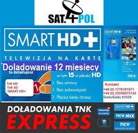 TNK Smart HD+ doladowanie Aufladung 12 M Telewizja Na Karte NC+ TnK TVN POLSAT