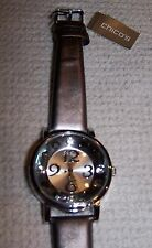 Chico's PERIWINKLE Women's Watch GREY LEATHER BAND ~ NWT $68