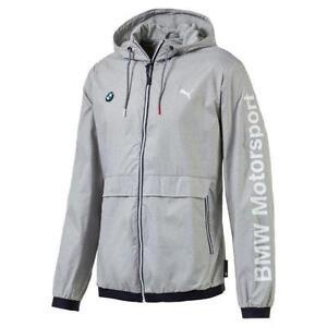 NWT Men's Puma Bmw Motorsport Premium MSP Lightweight Jacket Heather Gray SZ:XXL