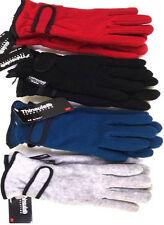 Ladies Womens Warm Winter 40gsm Thinsulate Fleece Gloves Black Blue Red Grey