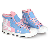 Overwatch D.VA Dva Cute Rabbit Canvas Shoes OW Sports Casual Flat Boot Cosplay