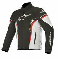 GIUBBOTTO MOTO ALPINESTARS T-SP-1 WATERPROOF JACKET BLACK WHITE RED ANTIACQUA