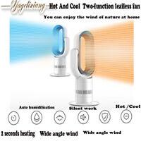 Yglx Hot+Cool Fan Heater space electric room bathroom fan heater - White/Silver