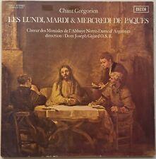 CHANT GREGORIEN Les Lundi, Mardi & Mercredi de Paques DECCA (France) VG++/VG++