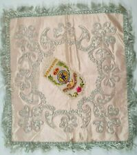 More details for the shropshire regiment ww1 embroidered silk embroidered sweetheart table mat