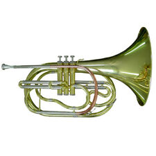 Karl Glaser Marching French Horn Cor goldmessing Embout Valise embout buccal