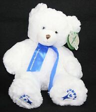"First & Main white stuffed plush bear 18"" Soft Floppy Blue Eyes Children's Hope"