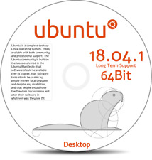 Ubuntu 18.04.1 - Linux Operating System DVD 64-Bit for PC or laptop