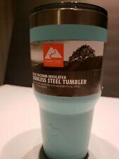 Ozark Trail 30 Ounce Double Wall Vacuum Sealed Tumbler Aqua Stainless Steel
