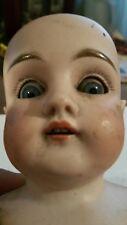 "Antique Original 1800s-1900s German 15"" Bisque Doll 154 dep 5 ( Sleepy eye)"