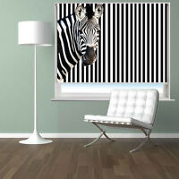 Digital Print Photo Roller Blind zebra barcode style Blackout Window Blind