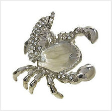 Jewelled Crab Trinket Box Stal SP Ladies Mothers Day Gift Star Sign CANCER Boxed