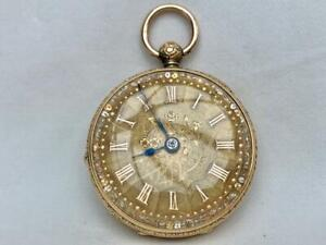 18 Carat Gold Fusee Pocket Watch Being Sold For Spares or Repairs Only.