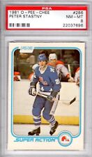 1981 O Pee Chee OPC Peter Stastny PSA 8 NM-Mt # 286 Super Action