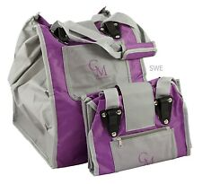 CarryMore Set of 2 Reusable Shopping Bags - Purple with Gray. Closeout!