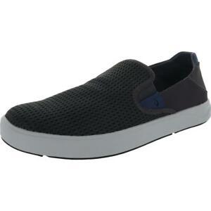 OluKai Mens Lae'Ahi Gray Slip On Flat Loafers Shoes 11 Medium (D) BHFO 2244