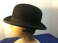 e604725e Vintage John B. Stetson Derby Bowler Hat 6 7/8
