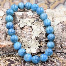 Natural Blue Apatite Handmade Beaded 8mm Crystal Gemstone Reiki Healing Bracelet