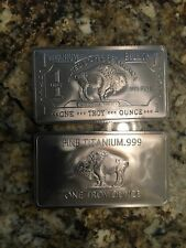 1 TROY OUNCE/OZ .999 Pure TITANIUM Metal Buffalo Bars/INGOTS/Bullion