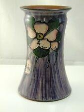 """Torquay ware vase Longpark? purple flower vase 6"""" tall"""
