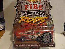 Hot Wheels Fire Department Rods Phoenix AZ. 1957 Chevy Bel Air w/Real Riders