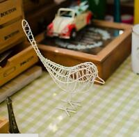 Shabby Chic Metal Wire Model Bird Desktop Ornament Home Decor Craft Vintage New