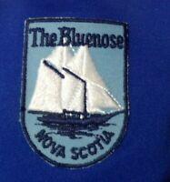 The Bluenose Nova Scotia Patch Vintage Trucker Snapback Blue Mesh Hat Cap Rare