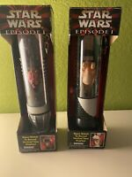 Star Wars Episode 1 Jar Jar + Maul Collector Watch w/ Light Saber Display Case