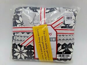 Pottery Barn Kids Winter Fair Isle 2 Piece Pajama Set Gray Multi #9845L