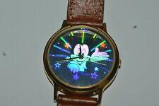 Vintage LORUS V515-8A00 Mickey Mouse Hologram Watch Quartz 36mm Used Works fine