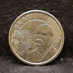 2010 Brazil 50 centavos, Rio Branco, modern Brazil coinage, KM-651a         /N59