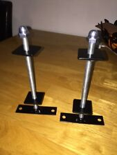 2 x  cast iron radiator wall stays brackets powder coated black,