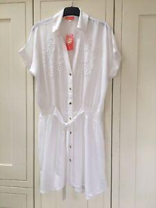 Fab River Island White Beach Shirt Dress In Store Nwt Size Xs