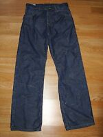 Men's Cabin Button Fly Distressed Fading Wrinkle Blue Jeans Size 30 x 34