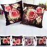 Fashion Printing Dyeing Peony Sofa Bed Home Decor Pillow Case Cushion Cover UK