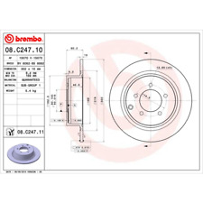 Bremsscheibe (2 Stück) COATED DISC LINE - Brembo 08.C247.11