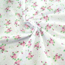 Polycotton Fabric Roses & Polka Dots Spots Flowers Floral Flowers