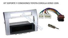 Soporte marco radio Toyota Corolla Verso  1DIN kit conexiones iso y antena