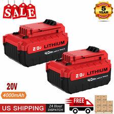 2PACK For PORTER CABLE PCC685L 20V 4.0Ah MAX Lithium Ion PCC680L 20 Volt Battery