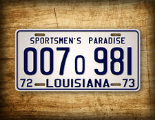 JAWS Movie Louisiana License Plate 1975 Shark Autopsy Replica Prop Auto Tag 1973