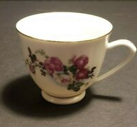 Vintage Miniature China Teacup with Floral Design 2 inches tall