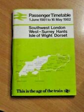 BR Local Passenger Timetable 1 June 1981 - 16 May 1982 SW London/Hants/I.o.Wight
