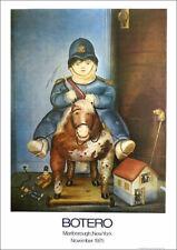 Fernando Botero Boy On Toy Horse 1978 Poster Print 16 x 11