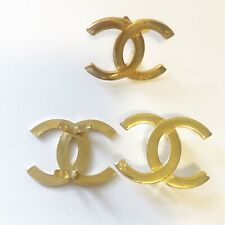 """New listing 3 Gold Cc 1.5"""" Replaceable Leathercraft Hardware Logo for Wallets and Handbags"""
